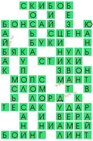 Верх  сканворд 3 буквы